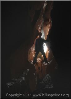 Rift Passsage in Grants Cave