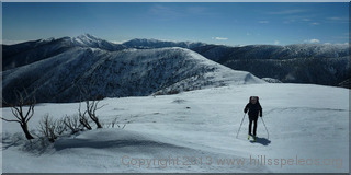 The Razorback towards Mt Feathertop