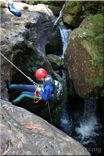 First abseil in Bowens Creek North Branch