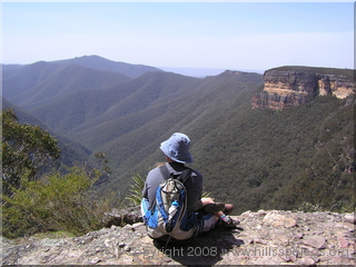 Neil overlooking Kanangra Walls